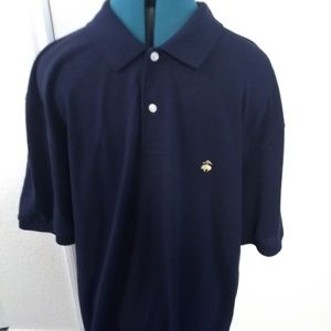 Brooks Brothers Mens Short Sleeve Polo Shirt Blue